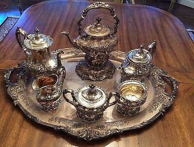 7 Piece FRANCIS I by Reed and Barton Sterling Silver Tea Set with large tray