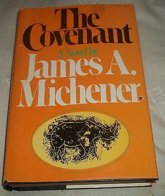 The Covenant By James A. Michener Vol 2, 1980, HC/DJ Book Club Edition