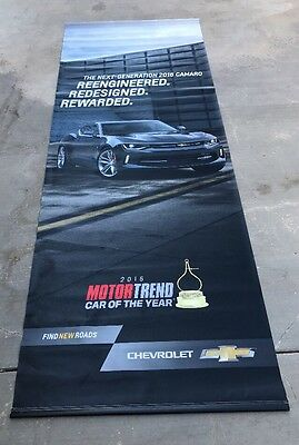 The Next Generation 2016 Chevrolet Camaro Dealership Showroom Hanging Banner