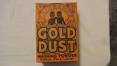 Vintage Black Americana Fairbank's Gold Dust Washing Powder Unopened Box