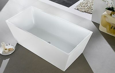 1685 x 790 x 600 SQUARE FREESTANDING ACRYLIC BATHTUB - DISCOUNT BATH PICKUP ONLY