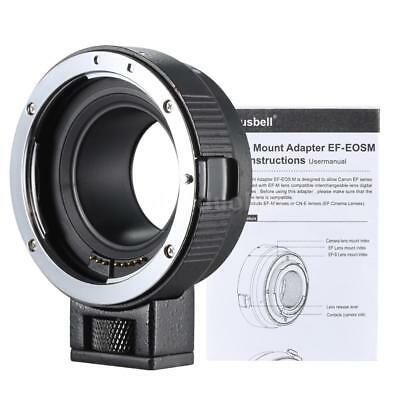Camera Lens Adapter Ring Mount for Canon EF/EF-S to EOS M EF-M M2 M3 M10 AU Q5T6