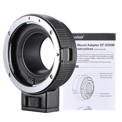 DSLR Camera Lens Adapter Ring Mount for Canon EF/EF-S to EOS M EF-M M2 M3 M10 AU