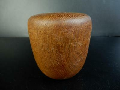 F1807: Japanese Wooden Chestnut TEA CADDY Chaire Container