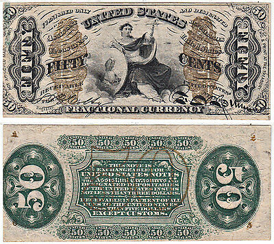 1864-69 50c Justice 3rd Issue F-1372 Fractional Currency CU
