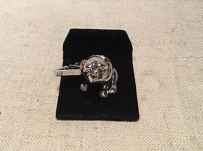 Dunhill French Sterling Silver Vintage Figural Bulldog Business Card Holder