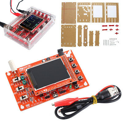 "DIY Kit Assembled DSO138 2.4"" TFT Digital Oszilloskop (1Msps) Mit Acryl Case Set"