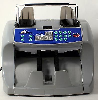 Royal Sovereign Front Loading Cash Counter w/Dual Counterfeit Protection RBC1003