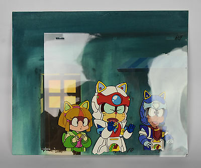 Samurai Pizza Cats Animation Art Cel Painted Background 1990 | FAST POST