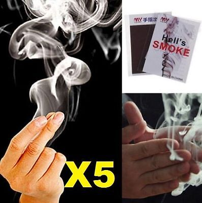 5PC Adorable Finger - Smoke Magic Trick Magic Illusion Stage Close-Up Stand-Up S