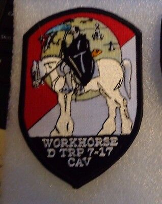 Army Aviation Patch, D Troop 7Th Squadron 17Th Cavalry Regiment