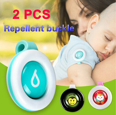 2PCS Mosquito Repellent Badge Button Baby Pregnant Woman Mosquito Repellent Clip
