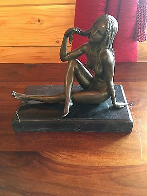 Bronze Nude Signed Milo  in hot Cast Bronze