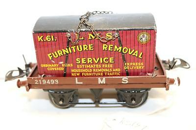hornby  o gauge  container furniture removal service wagon   [ks147 ]