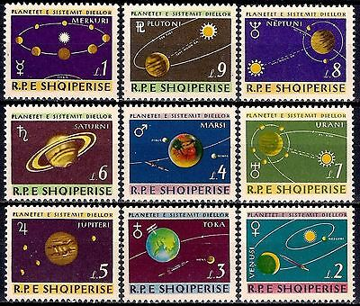 Albania 1964 Solar System Space Planets Astronomy Science 9v set MNH