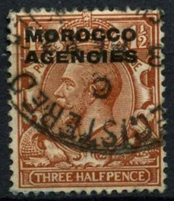 Morocco Agencies 1914-31 SG#44, 1.5d Red Brown KGV Used #D47359