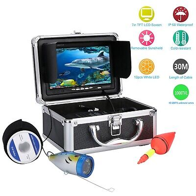 "30M 1000tvl Underwater Fishing Video Camera Kit with 7"" Inch Color Monitor"