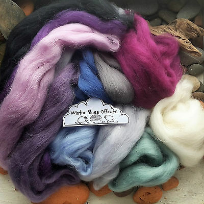 100g Wool Roving off Cuts / Merino, British, Natural, Needle felting