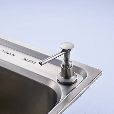 Free Shipping Kitchen Soap Dispenser Brushed Nickel Liquid Soap Dish Holder