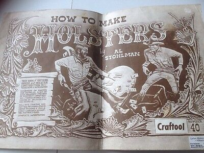 How To Make Holsters Al Stohlman Pistolentasche Selbermachen Leder Vintage 1962