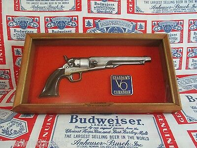 VTG 70's SEAGRAM'S VO CANADIAN WHISKEY .44 Cal. WAR CAVALRY GUN PISTOL IN MOTION