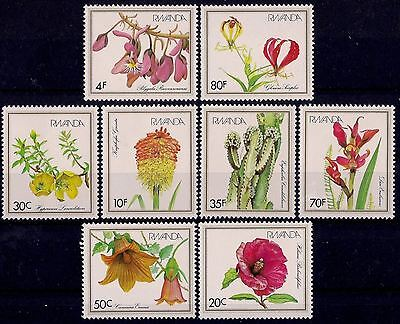Rwanda 1982 Flowers Hibiscus Canarina Polygala Torch lily Orchids Lily Cactus NH