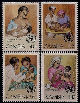 Zambia 1988 UNICEF Medical Health Doctor Vaccination Breast Feeding Mother MNH