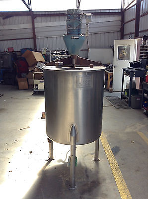 Viatec 65 Gallon SS Jacketed Mixing Process Tank w/ Agitator 1/3HP 1725RPM