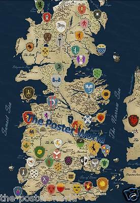 Game Of Thrones Map Picture Poster Wall Art Print New