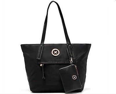 New Mimco Splendiosa Tote Black Rose Gold Bag With Pouch - Bnwt Rrp$229