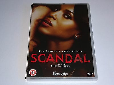 Scandal - The Complete Fifth Season 5 - NEW / SEALED DVD SET - 5th Series Five