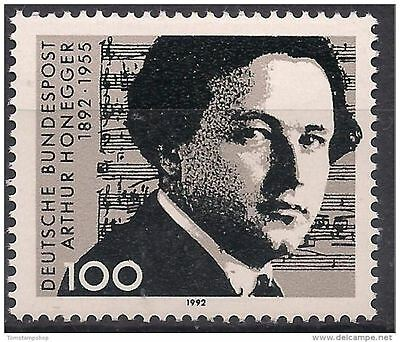 Germany 1992 Arthur Honegger Composer Music/Symphony Orchestra People 1v MNH