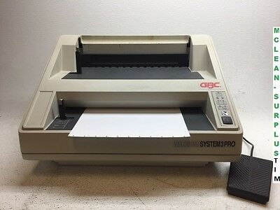 GBC Velobind System 3 Pro Electric Punch Comb Binding Machine 3Pro TESTED WORKS