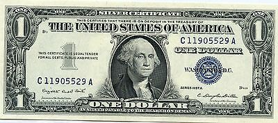 Amazing 1957 Uncirculated United States $1 Series A Silver Currency Note NI626