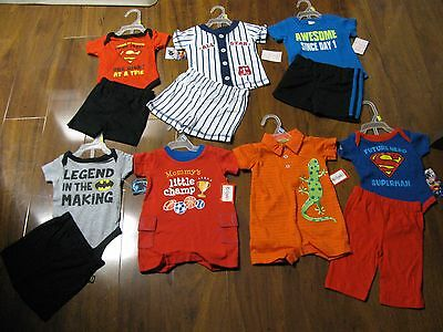 12 Pc. Lot Newborn Baby Boys Clothes 0-3 Months Spring Summer 0/3M Outfits NWT