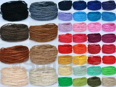 Course Hemp 1~1.5mm Jute Hessian Craft Card Wrapping Cord Twine String 10-50m