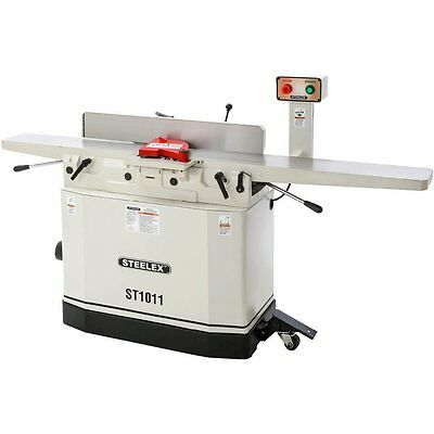 "Steelex ST1011 8"" Jointer w/Helical Cutterhead, Mobile Base & Parallelogram Beds"