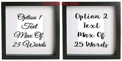 Customised Box Frame #1 Box Frame Sticker Quote 3 Sizes DIY  design your own