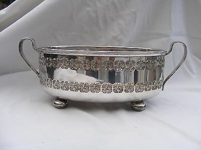 Victorian silver plate oval bowl,stamped W S & S 1882-1886.