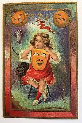 E Nash Halloween Series No 5 Witch Jol Girl Holding Mask  Cat