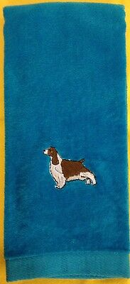 English Springer Spaniel, Hand Towel, Embroidered, Custom, Personalized, Dog