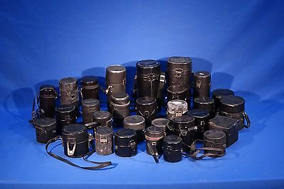 LOT of assorted Canon, Pentax, Sigma, etc Lens Cases #L1188M