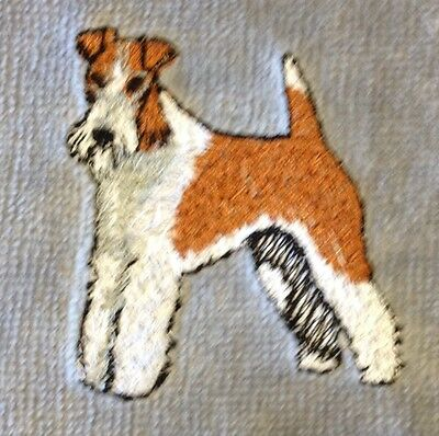 Wire Fox Terrier, Hand Towel, Embroidered, Custom, Personalized, Dog