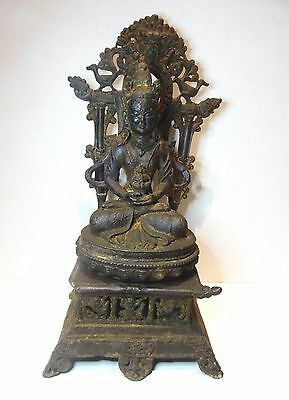Early Old Antique Chinese Tibetan Nepalese Bronze Buddha Figure Statue 3 Pieces