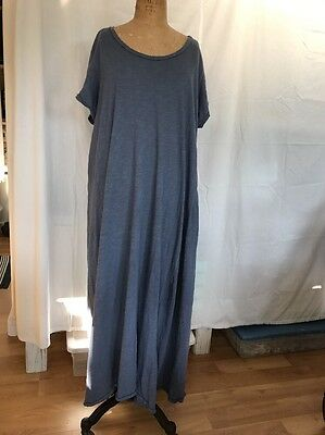magnolia pearl womens T Dress In Blue-one Free Size