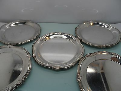 6 x German WMF Silver Plated Dishes/Coasters  1938-1948 No Reserve