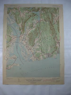 VINTAGE 1930's ORIGINAL LYME, CT TOPOGRAPHICAL MAP