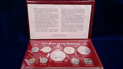 1973 Uncirculated Coins of the Bahamas with (4) SILVER COINS
