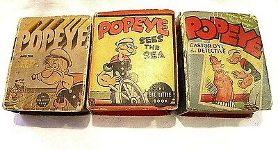 Vintage 1930's ~ POPEYE BOOKS ~ Lot of 3 ! NO RESERVE !