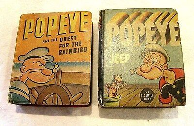 Vintage 1930's ~ POPEYE BOOKS ~ Lot of 2 ! NO RESERVE !
